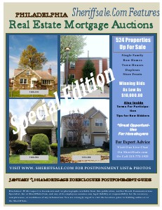 January 7, 2014 Mortgage Foreclosure Postponement Property Auction January 7, 2014 Special Foreclosure Edition Paid