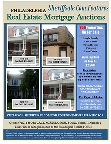 October 7, 2014 Mortgage Foreclosure