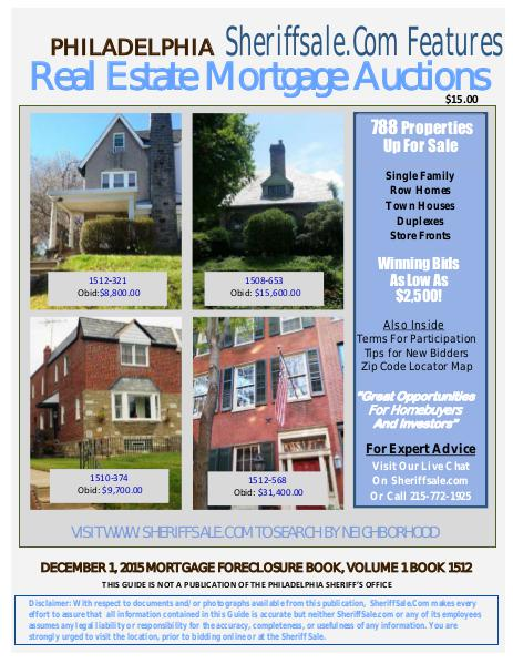 December 1, 2015 Philadelphia Mortgage Foreclosure Sale clone_December 1, 2015 Mortgage Foreclosure Sale