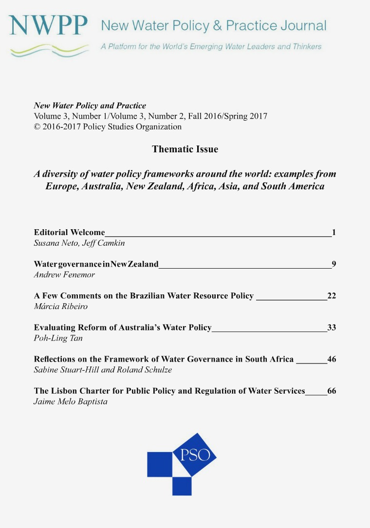 New Water Policy and Practice Issue 3, Number 1, Issue 3, Number 2