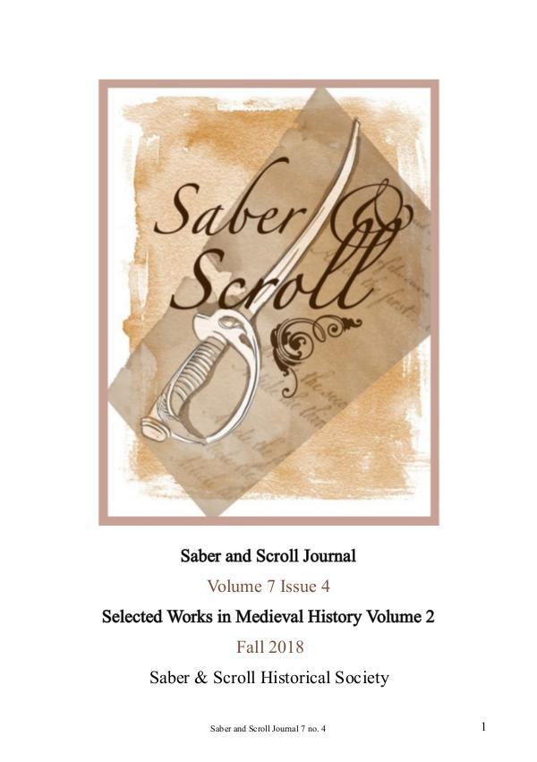The Saber and Scroll Journal Volume 7, Issue 4, Fall 2018