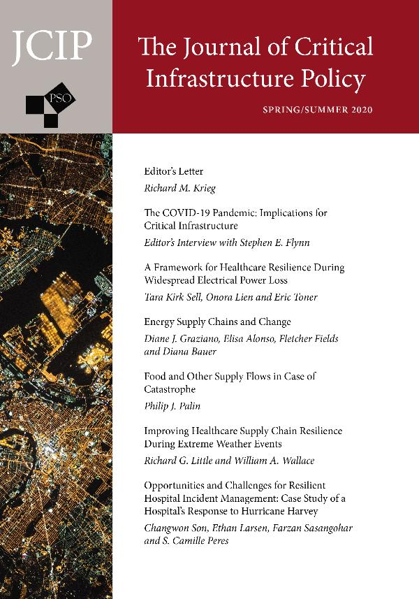The Journal of Critical Infrastructure Policy Volume 1, Number 1, Spring/Summer 2020