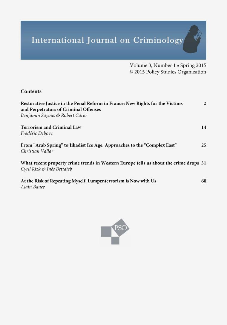 Volume 3, Number 1, Spring 2015