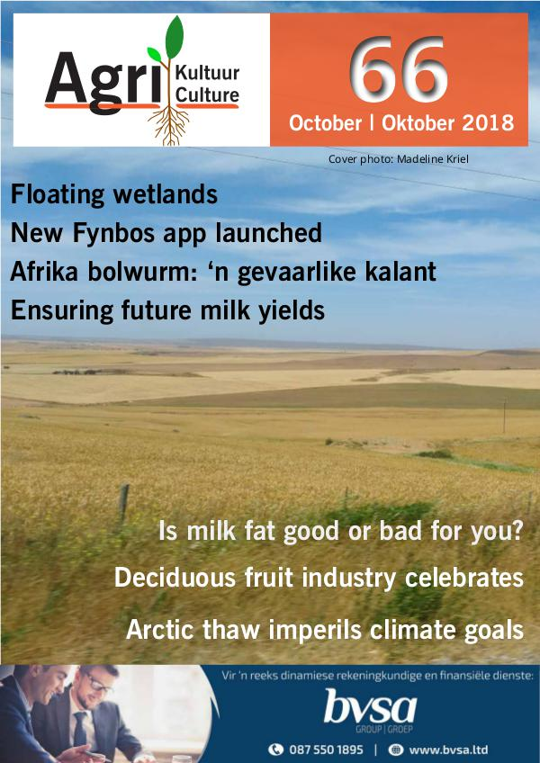Agri Kultuur October / Oktober 2018