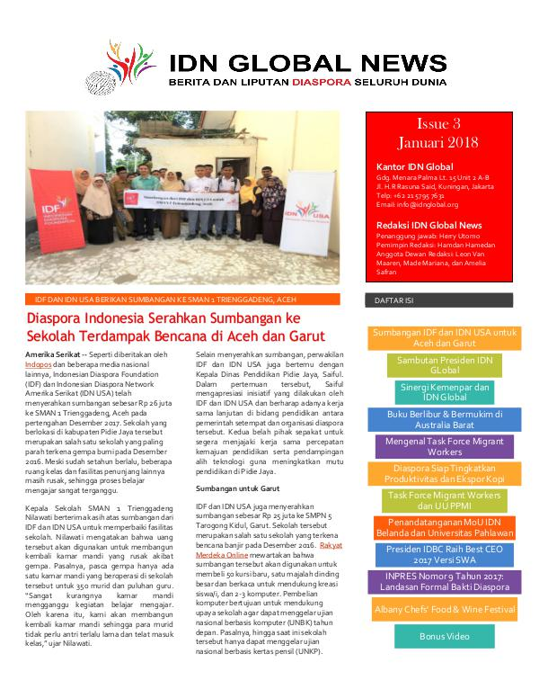 IDN GLOBAL NEWS Issue 3 Januari 2018