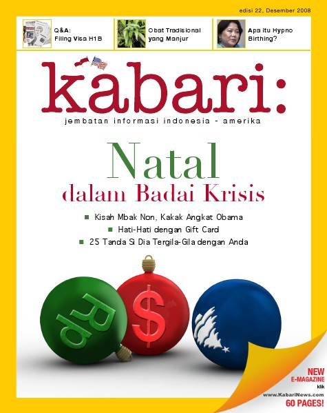 Majalah Digital Kabari Vol: 22 Desember 2008 - Januari 2009