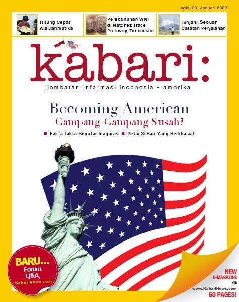 Majalah Digital Kabari Vol: 23 Januari - Februari 2009