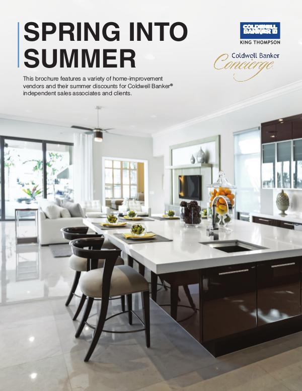 Concierge Spring Brochure KT Coldwell Banker King Thompson Concierge Summer