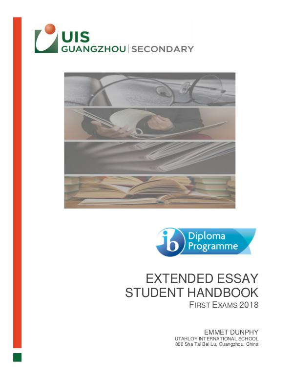 UISG - DP Special Features Extended Essay 2018