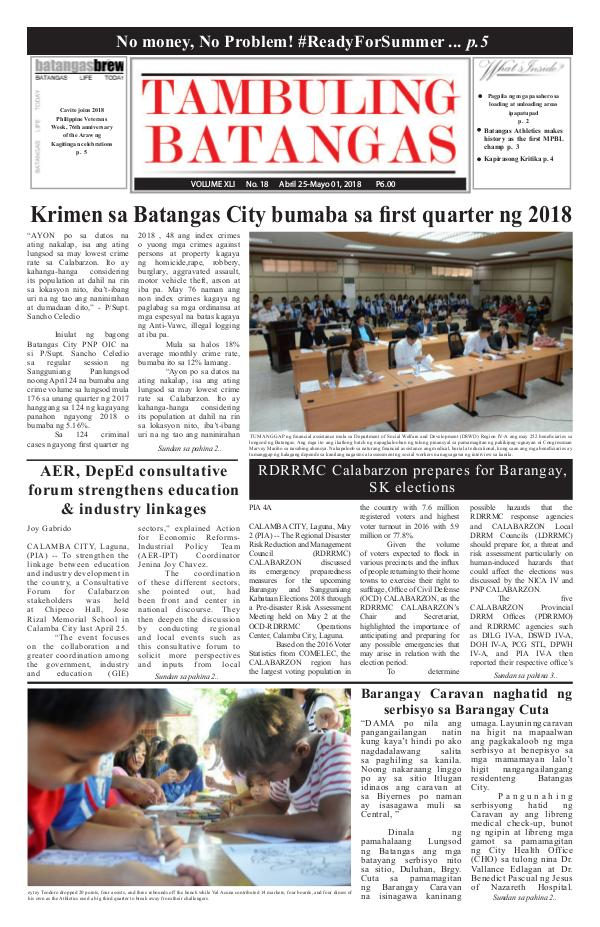 April 25-May 01, 2018 Issue