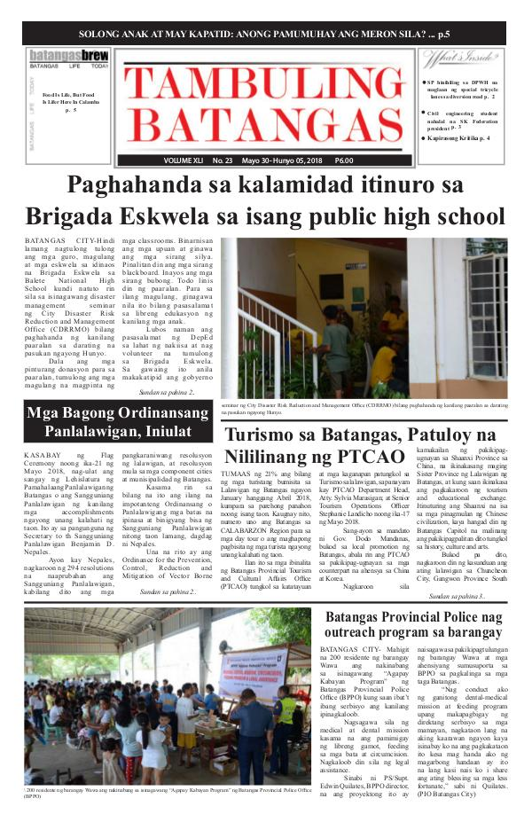 May 30-June 05, 2018 Issue