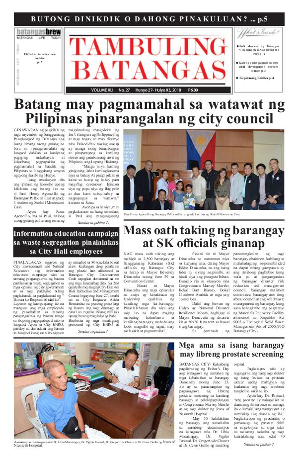 June 27-July 03, 2018 Issue