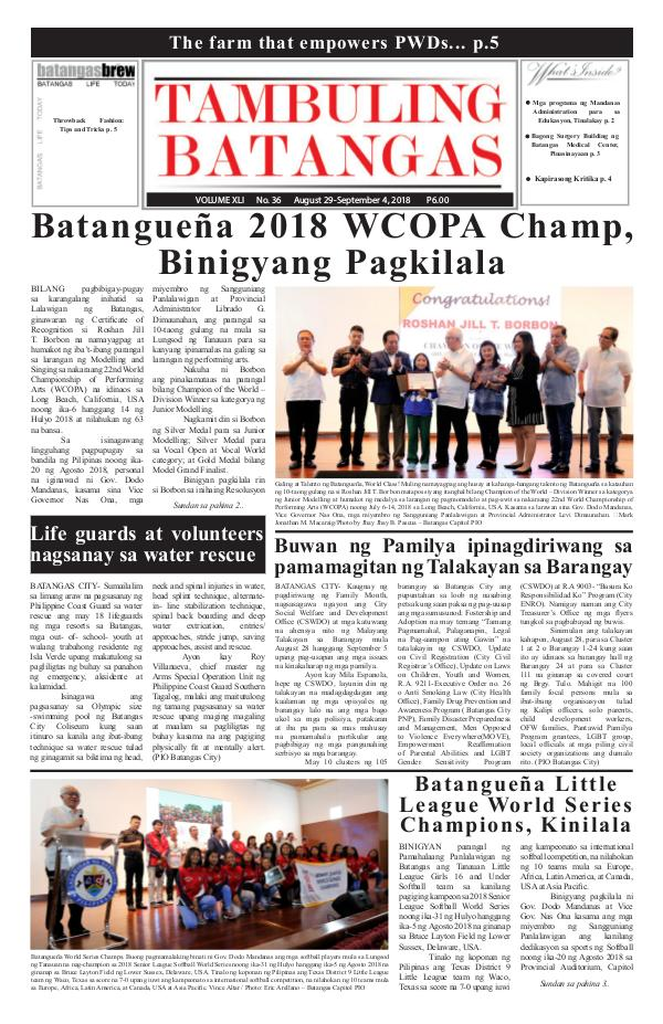 August 29-September 04, 2018 Issue