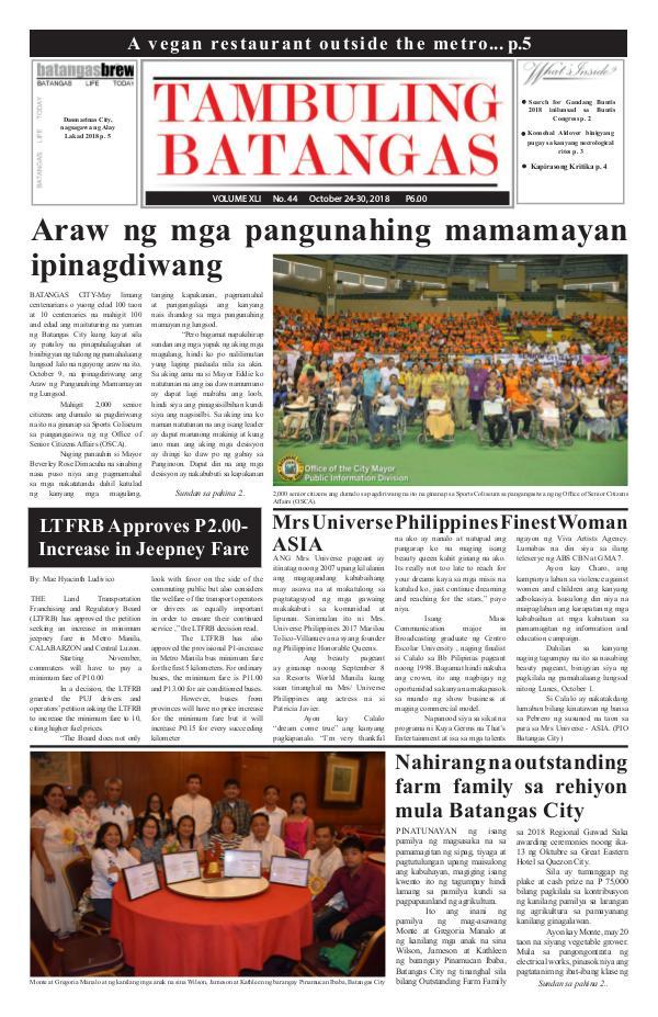 October 24-30, 2018 Issue