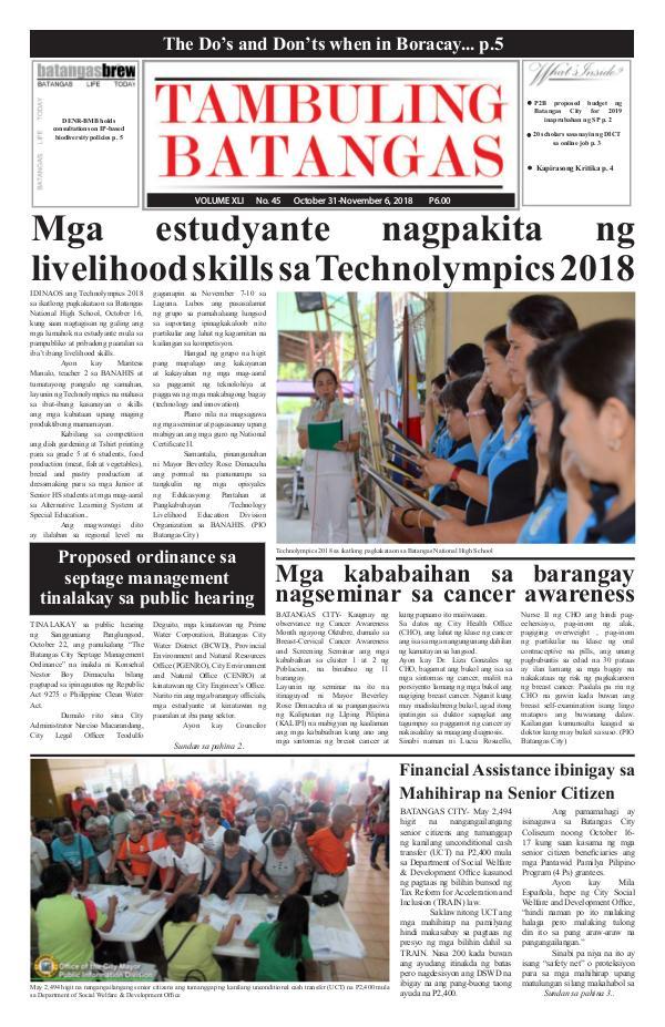 October 31-November 06, 2018 Issue