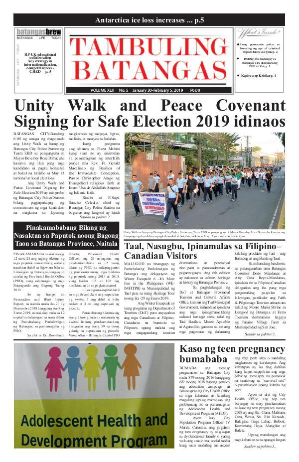 Tambuling Batangas Publication January 30-February 05, 2019