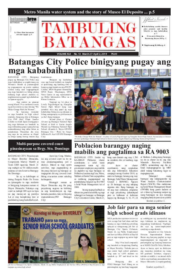 Tambuling Batangas Publication March 27-April 02, 2019