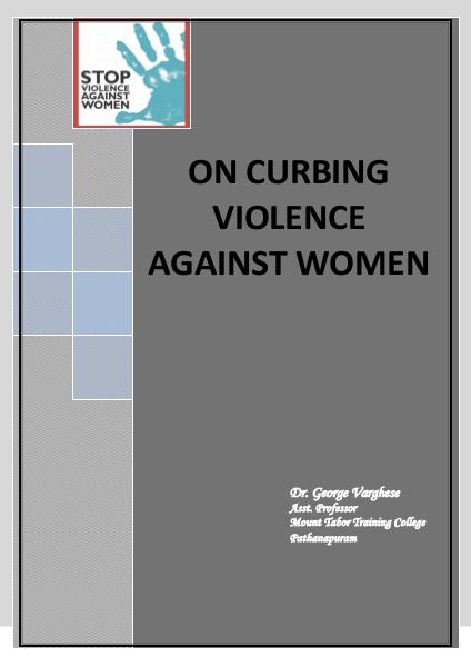 On Curbing Violence Against Women Vol 1