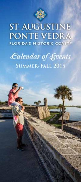 Florida's Historic Coast Calendar of Events Summer-Fall 2015 - Jun-Oct