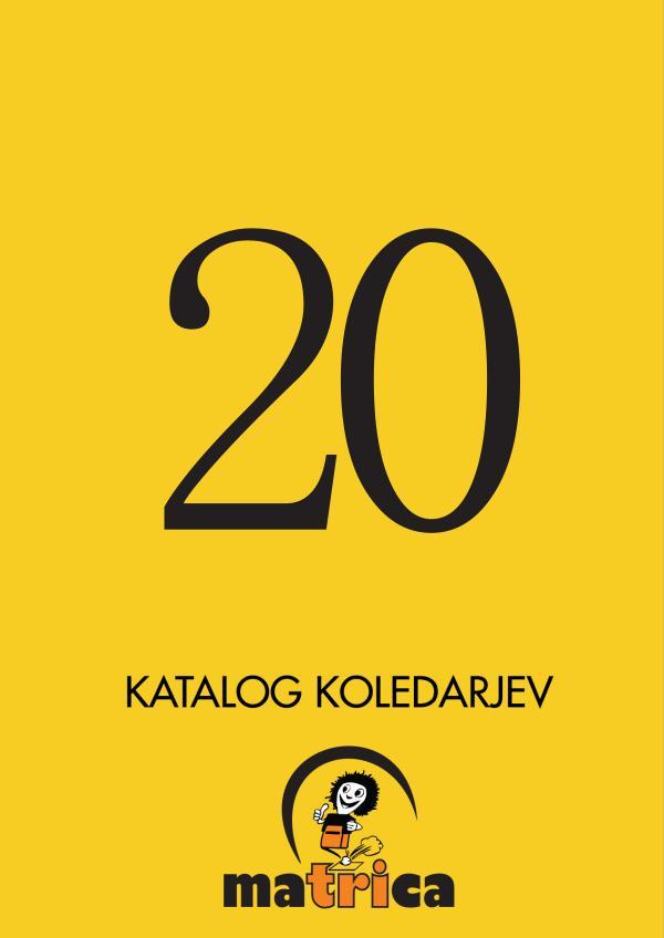 Katalog koledarjev Ma3ca 2020