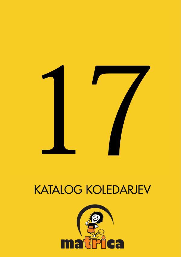 Katalog koledarjev Ma3ca Katalog 2017