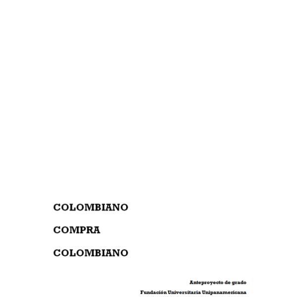 Colombiano compra Colombiano Colombiano compra colombiano final