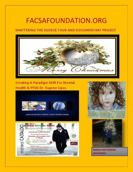 Shattering The Silence Tour Documentary Project @ FACSAFoundation.org Volume 1 Issue 1 December 12, 2014