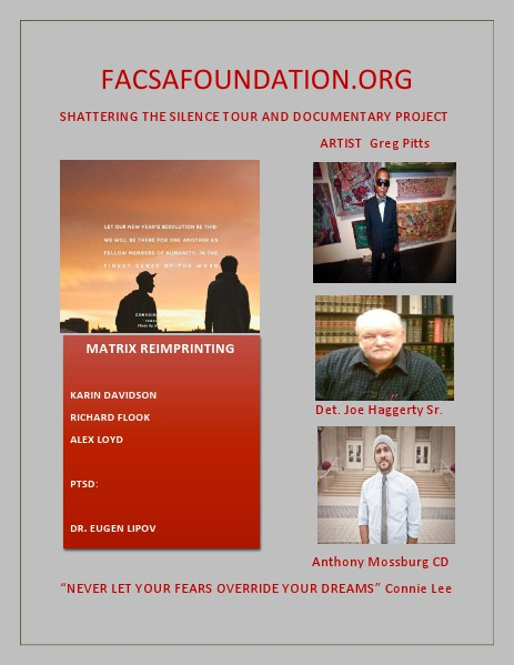 FACSAFOUNDATION.ORG SHATTERING THE SILENCE TOUR DOCUMENTARY PROJECT Volume 2 January 2015