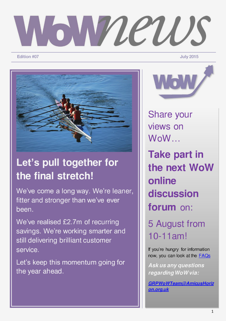 WoWnews - Edition 7 July 2015 Edition 7 July 2015