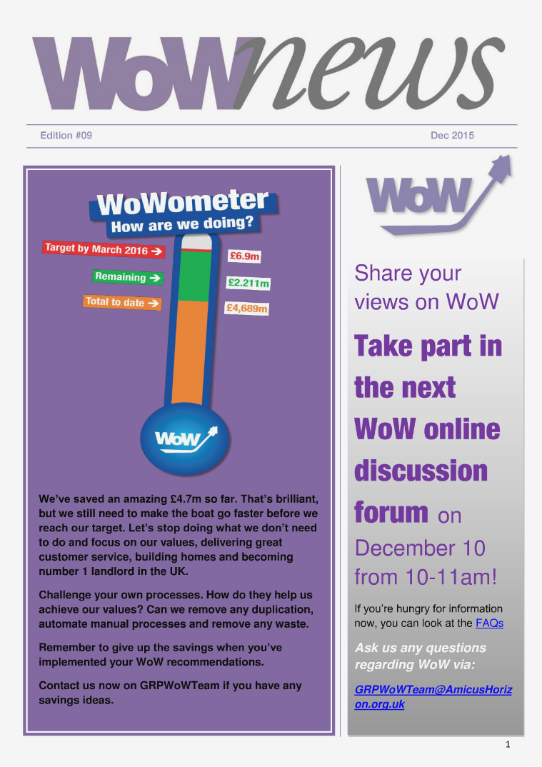 WoW News - Edition 9 issue 9