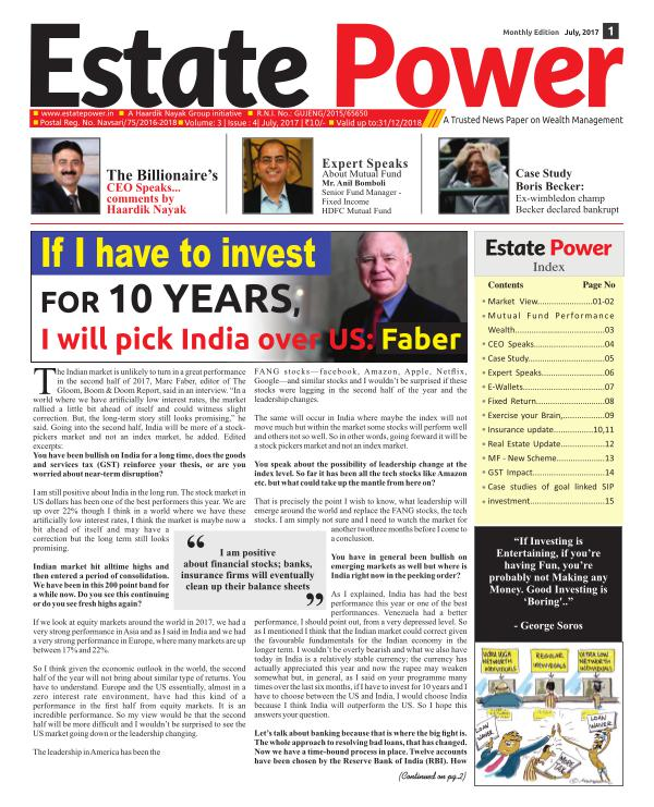Estate Power Estate Power July 2017