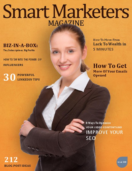 SMART MARKETERS MAGAZINE ISSUE 009