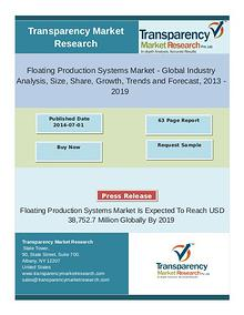 Floating production systems Market is likely to rise at a CAGR of 17.