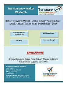 Global Battery Recycling Market: Awareness for Energy Conservation Te