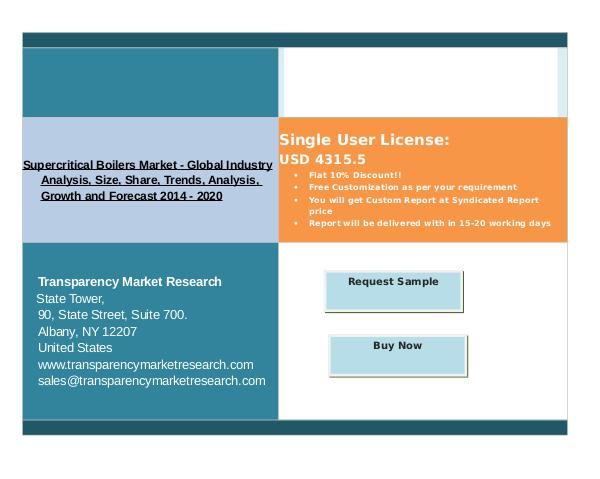 Supercritical Boilers Market is expected to rise at a remarkable CAGR oct 2016