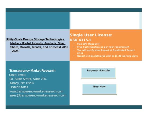 Growth Of Utility-Scale Energy Storage Technologies Market 2016 - 202 Nov 2016