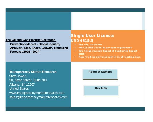 Growth Of The Oil and Gas Pipeline Corrosion Prevention Market 2016 - Dec 2016