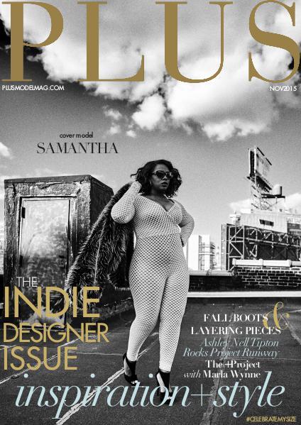 PLUS MODEL MAGAZINE November 2015 Indie Designer Issue