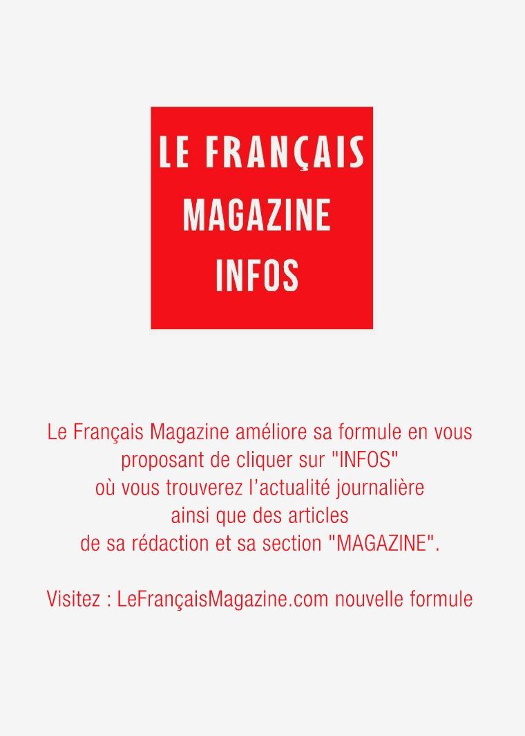Retour sur un article Le Français Magazine Infos