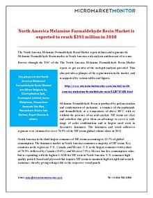North America Melamine Formaldehyde Resin Market Forecast 2018