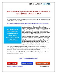Asia-Pacific Fuel Injection System Market is Estimated to Reach $41,1