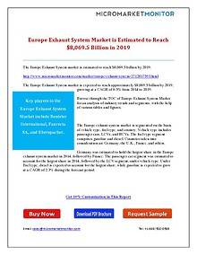 Europe Exhaust System Market is Estimated to Reach $8,069.5 Billion i