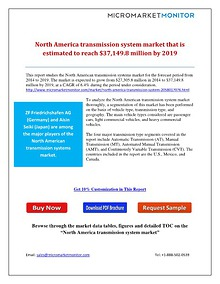 North America transmission system market that is estimated to reach