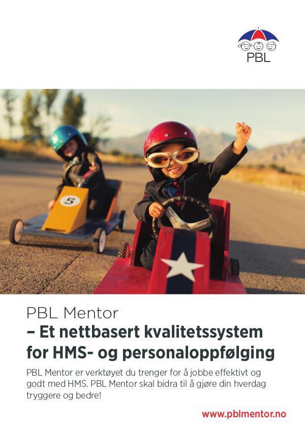 PBL Mentor høst 2016 – Et nettbasert system for HMS- og personaloppfølg