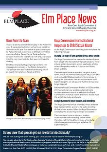 Elm Place Newsletter