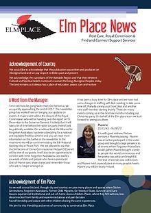 Elm Place Newsletter
