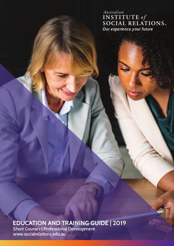 AISR   Education and Training Guide 2019 AISR   Education and Training Guide