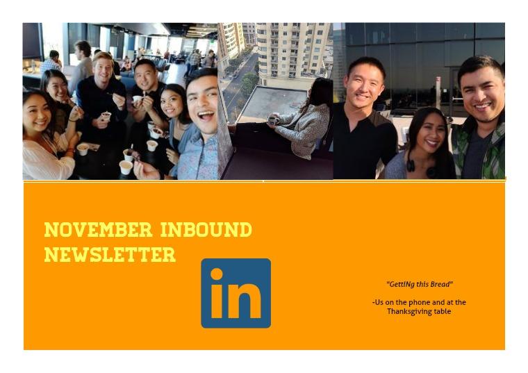 Inbound SD Newsletter September 2018