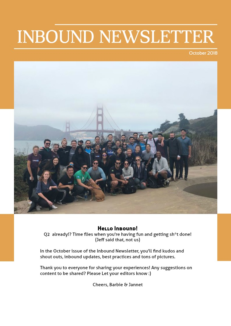 Inbound SD Newsletter October 2018
