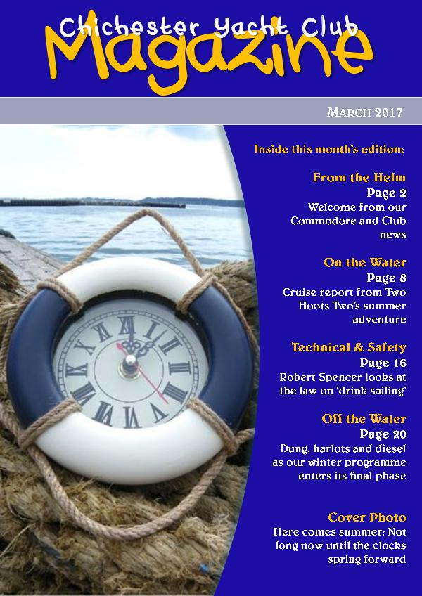Chichester Yacht Club Magazine March 2017